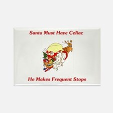 Santa Must Have Celiac Rectangle Magnet