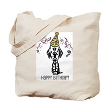 Dalmatian Happy Birthday Tote Bag