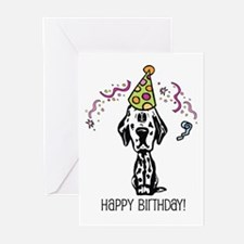 Dalmatian Happy Birthday Greeting Cards (Pk of 20)