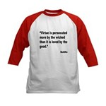 Buddha Persecuted Virtue Quote (Front) Kids Baseba
