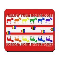 Rainbow Moose Tracks Mousepad