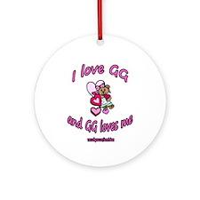I LOVE GG GIRL Ornament (Round)