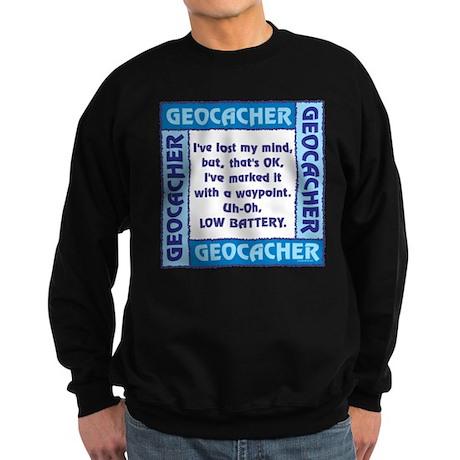 Blue Geocacher Lost Mind Sweatshirt (dark)