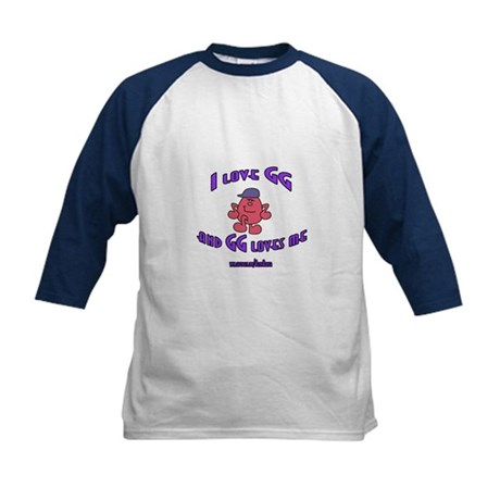 I LOVE GG BOY Kids Baseball Jersey