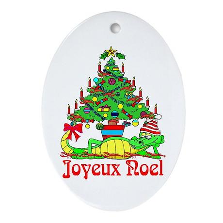 Cajun Christmas Oval Ornament