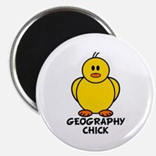"Geography Chick 2.25"" Magnet (10 pack)"