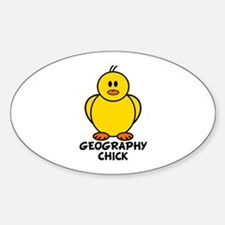 Geography Chick Oval Decal