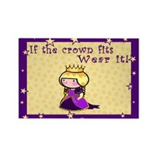 Crowned Princess Rectangle Magnet