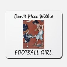 TOP Football Girl Mousepad