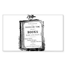 Book Man w/Hat Rectangle Sticker 50 pk)