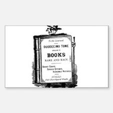 Book Man w/Hat Rectangle Decal