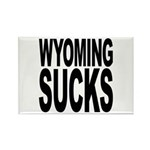 Wyoming Sucks Rectangle Magnet (100 pack)