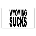 Wyoming Sucks Rectangle Sticker 10 pk)