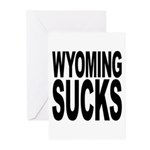 Wyoming Sucks Greeting Cards (Pk of 20)
