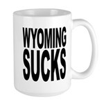 Wyoming Sucks Large Mug