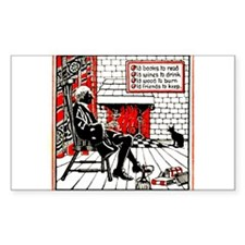 Old Books Old Friends Rectangle Decal