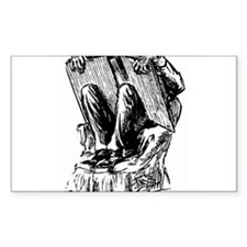 In a chair Rectangle Decal