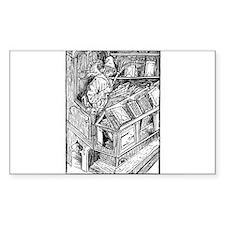 Bibliomaniac Rectangle Decal