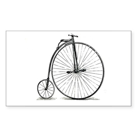 Penny Farthing Rectangle Sticker