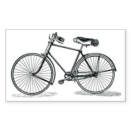 Old Bike (M) Rectangle Sticker