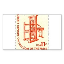 Freedom of the Press Rectangle Decal