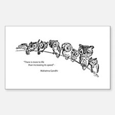 Relaxing Owls Rectangle Decal
