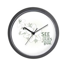 Lilies of The Field: Wall Clock