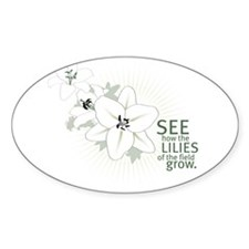 Lilies of The Field: Oval Decal