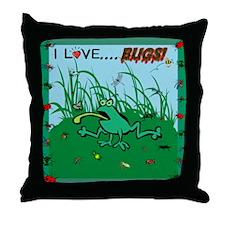 I Love Bugs Throw Pillow