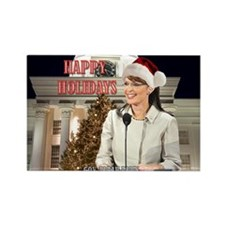 Happy Holidays Palin Rectangle Magnet