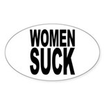 Women Suck Oval Sticker