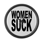 Women Suck Large Wall Clock