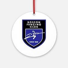 Boston Fencing Club Ornament (Round)