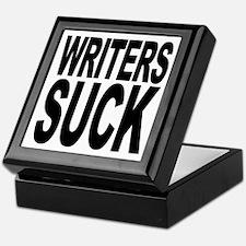 Writers Suck Keepsake Box