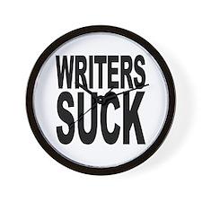 Writers Suck Wall Clock
