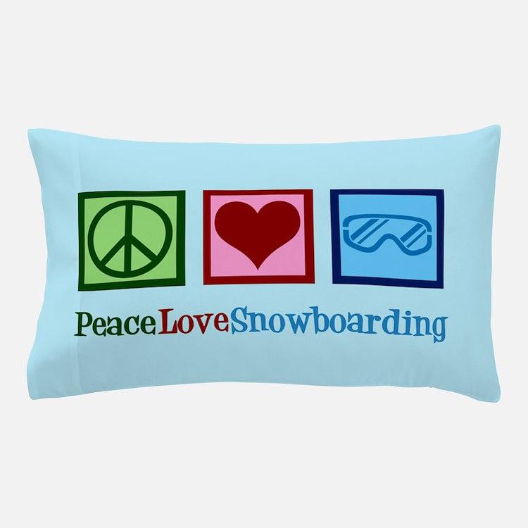 Cute Snowboarding Pillow Case