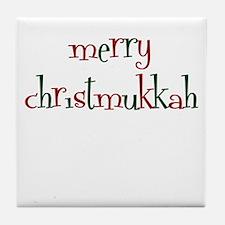 merry christmukkah Tile Coaster