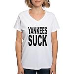 Yankees Suck Women's V-Neck T-Shirt