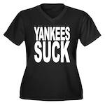 Yankees Suck Women's Plus Size V-Neck Dark T-Shirt
