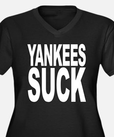 Yankees Suck Women's Plus Size V-Neck Dark T-Shirt