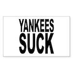 Yankees Suck Rectangle Sticker