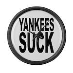 Yankees Suck Large Wall Clock