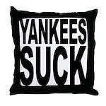 Yankees Suck Throw Pillow