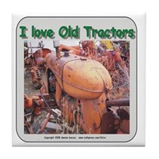 I love old AC tractors Tile Coaster