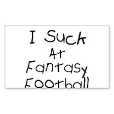 Fantasy Football Rectangle Decal