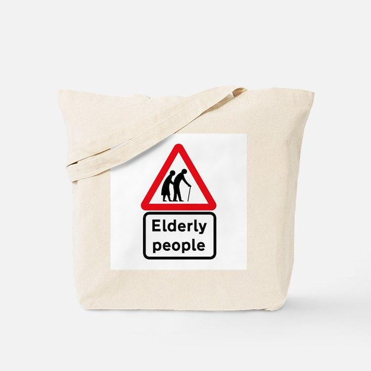 Elderly people tote bags beach canvas