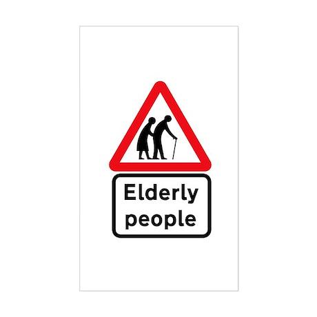 Elderly People, UK Rectangle Sticker