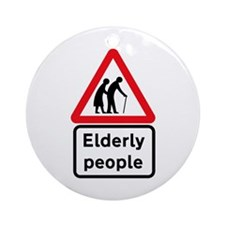 Elderly People, UK Ornament (Round)