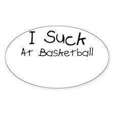 Basketball Oval Decal