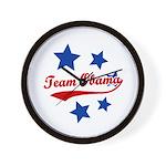 Team Obama Wall Clock